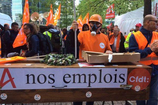 Les cinq principaux syndicats d'Areva ont appelé ce mardi les salariés à une grande journée de mobilisation