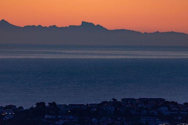 La Corse vue de St-Jeannet