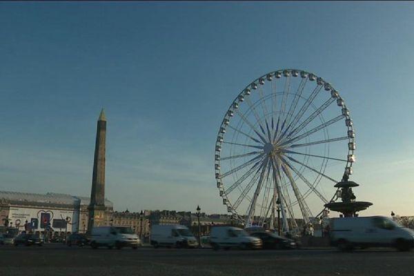 la Grande Roue de Paris, place de la Concorde, le 22 novembre 2017