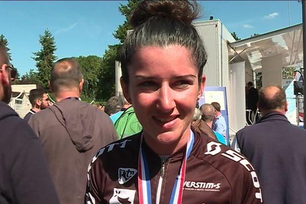 Lucie Jounier, médaille de bronze aux championnats de France de l'Avenir