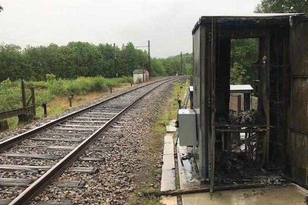 Le poste électrique dégradé sur la voie-ferrée Paris Limoges Toulouse