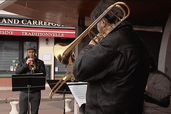 Les musiciens du quatuor Honegger en concert au marché au poisson du Havre le 21 mars 2017