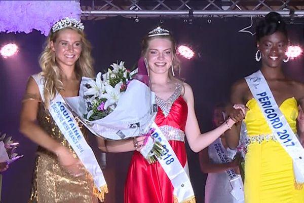 Beaucoup d'émotion ce 1er septembre à St Cyprien pour Elodie Humbert qui vient d'obtenir le titre de Miss Périgord 2018.
