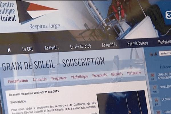 Une souscription en ligne a été mise en place par le Centre Nautique de Lorient afin d'affréter un bateau de recherches aux Açores.