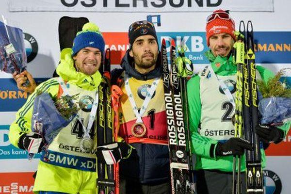 Nouvelle victoire pour le Catalan Martin Fourcade sur le sprint à Ostersund, en Suède - 3 décembre 2016