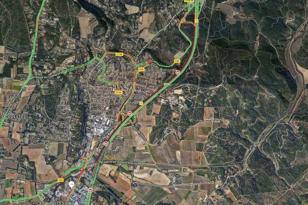 Autoroute A51 fermée en direction d'Aix-en-Provence à la suite d'un feu de poids lourd