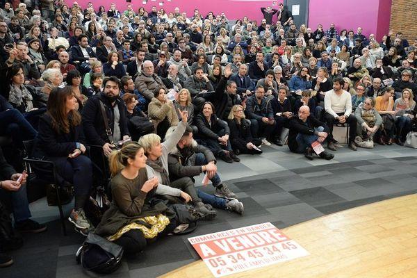 Plus de 600 commerçants et artisans de Toulouse se sont réunis, mardi 15 janvier 2019.