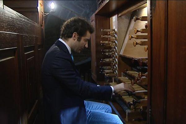 Samuel Liégon, organiste participant aux 15 heures non stop d'orgue à Luxeuil