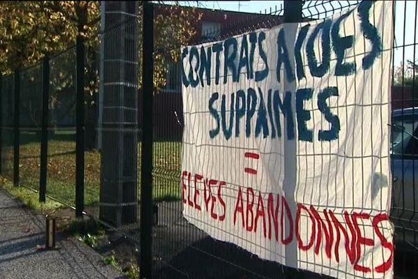 Grève au collège Jouffroy d'Abbans à Sochaux