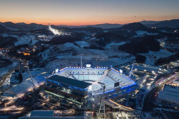 Le stade où se dérouleront les cérémonies d'ouverture et de clôture des JO de Pyeongchang.