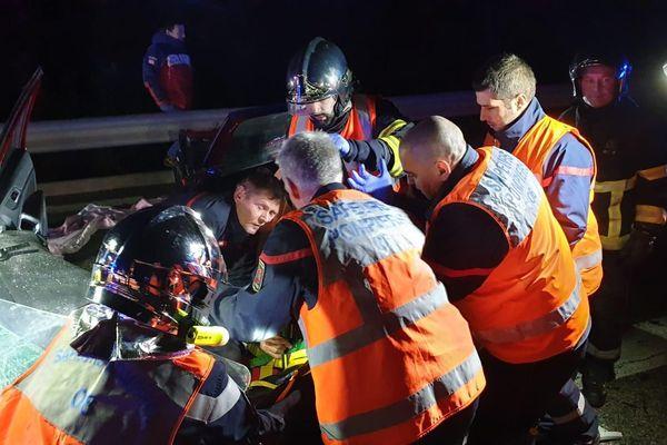 L'accident a eu lieu sur la route du Tinée, à Clans, à 50 km au nord de Nice.