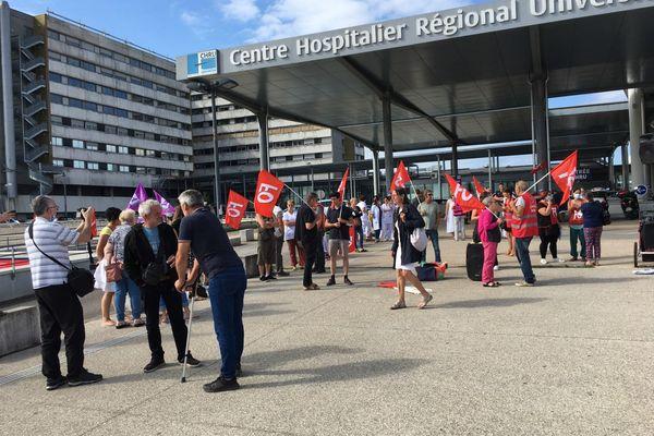 Hôpital Minjoz de Besançon, jeudi 28 juillet, rassemblement à l'appel de FO