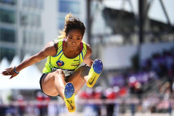 Images d'archives. Jeanine Assani Issouf, la star limougeaude du triple saut.