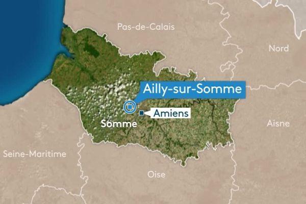 L'accident s'est produit à hauteur d'Ailly-sur-Somme