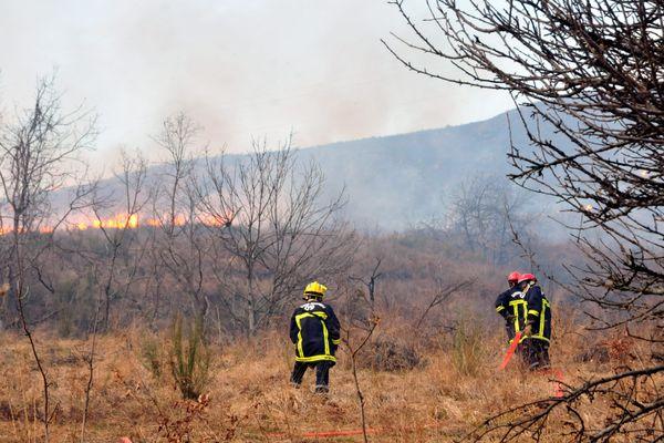28 hectares de feu de broussailles ont brûlés en Ariège