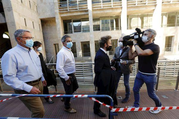 Pascal Fauret et Bruno Odos à la cour d'assises spéciale d'appel d'Aix-en-Provence.
