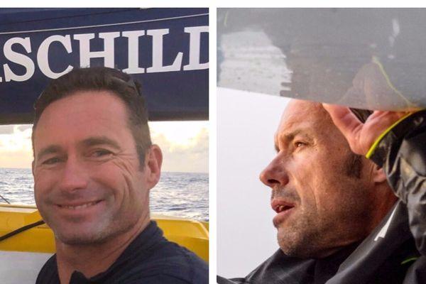 Les skippers Thomas Cauville et Sébastien Josse. #TJV2017