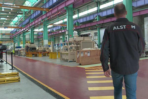 Octobre 2021 - Vue de l'intérieur de l'usine Alstom de Petit-Quevilly (Seine-Maritime)