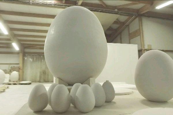 Ces œufs sont destinés à faire maturer le vin...