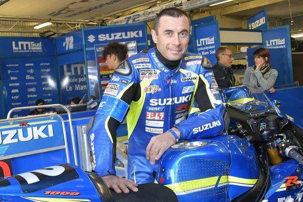Vincent Philippe et sa Suzuki