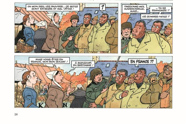 """La Bretagne est présente dans l'oeuvre de Jean-Claude Fournier. Cela dit, le dessinateur et scénariste n'a encore jamais croqué sa ville natale de Saint-Quay-Portrieux dans l'une de ses BD. Ici, une planche de """"Plus près de toi"""""""