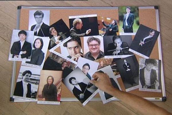 Les concurrents du 53 eme concours des jeunes chefs d'orchestre de Besançon