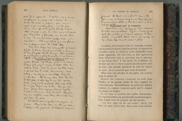Passages censurés de « Sous Verdun » où Maurice Genevoix a réécrit le texte manquant