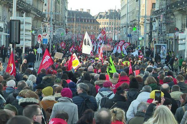 La manifestation contre la réforme des retraites ce jeudi à Lille.