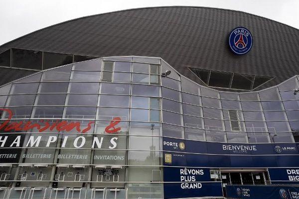 L'entrée du Parc des Princes. Le PSG sera-t-il sacré ce soir face à Rennes ?