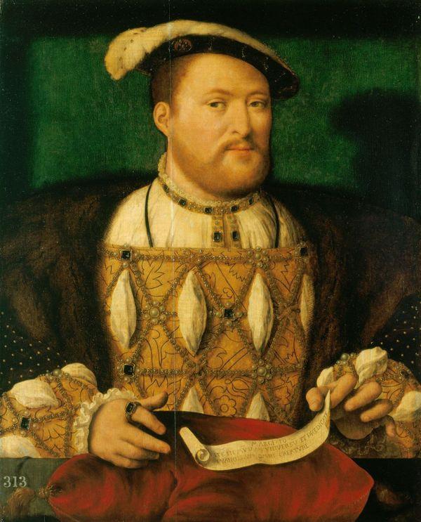 Henri VIII peint entre 1530 et 1535 par Joos van Cleve.