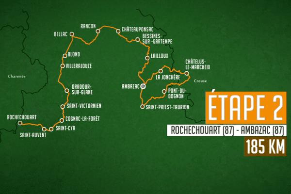 2ème étape : Rochechouart (87) - Ambazac (87) - 185.7 km
