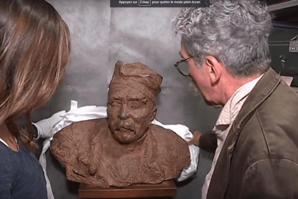 Le buste de Georges Clemenceau qui accueille les visiteurs dans le musée de Mouilleron-en-Pareds