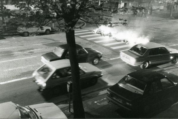 Manifestation à Caen Avenue du 6 Juin