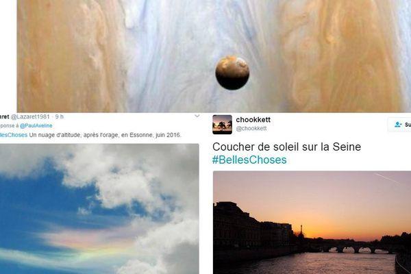 #BellesChoses, ces captures d'écran Twitter.