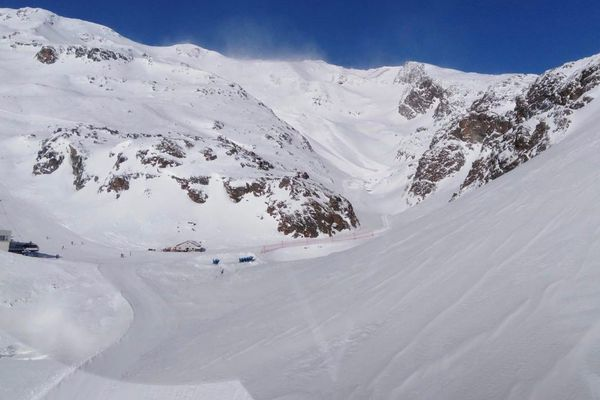 Un couloir d'avalanche dans le sud Tyrol.