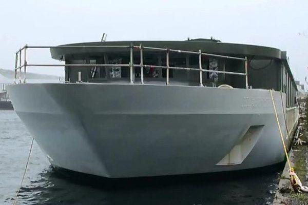 l'Elbe Princesse en cours de construction à Saint-Nazaire