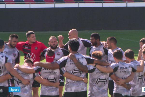 """Le RCT : """"beaucoup d'excitation"""" parmi les joueurs avant de redémarrer le championnat ce samedi à La Rochelle, après 6 mois d'interruption pour cause de Covid-19."""