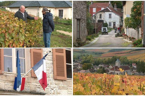 Le village viticole de Viviers-sur-Artaut, dans l'Aube, a pris un arrêté visant à autoriser l'utilisation de pesticides et autres produits phyto-sanitaires sur l'ensemble de la commune, y compris aux abords des habitations. - Viviers-sur-Artaut, octobre 2019