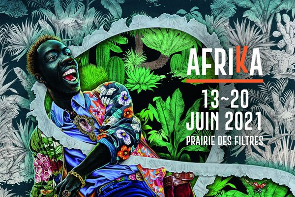 """Affiche 26e édition du Festival Rio Loco """"Afrika"""" - 2021"""