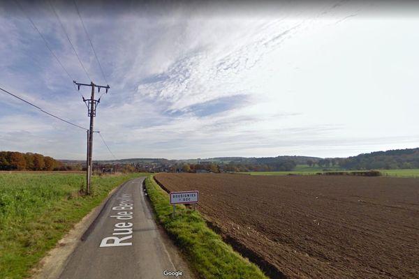 Entrée de Bousignies-sur-Roc au niveau de frontière Belge