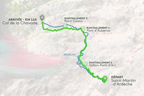 Le parcours du trail de François Laupin