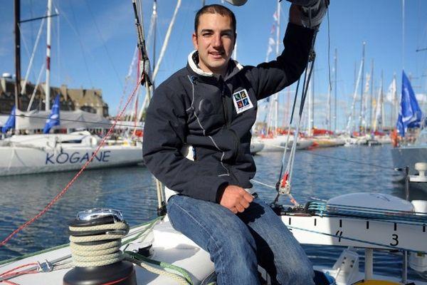 Le skipper nantais Damien Seguin