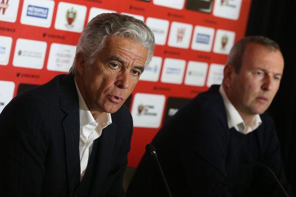 Jean-Pierre Rivère et Julien Fournier, lors de la conférence de presse.