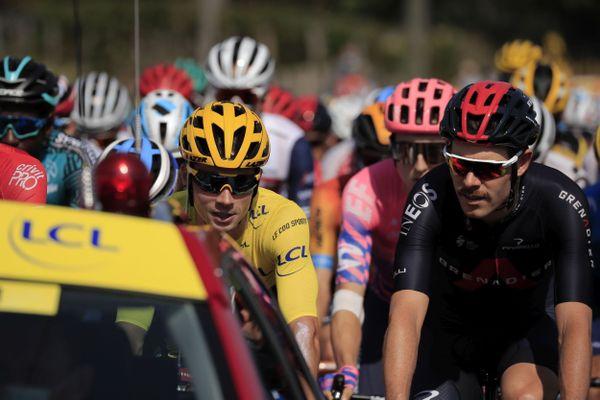 Le Tour de France s'élance le 18 septembre de Bourg-en-Bresse dans l'Ain à Champagnole dans le Jura, c'est la 18e étape, à deux jours de l'arrivée à Paris.