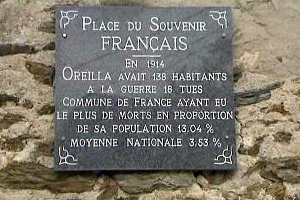 Oreilla (Pyrénées-Orientales) - village martyr français de la Grande guerre - août 2014.