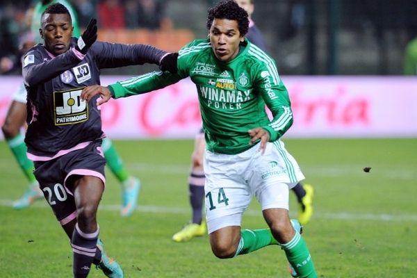 Brandao, lors de la rencontre opposant l'ASSE à Toulouse le 11 janvier dernier.