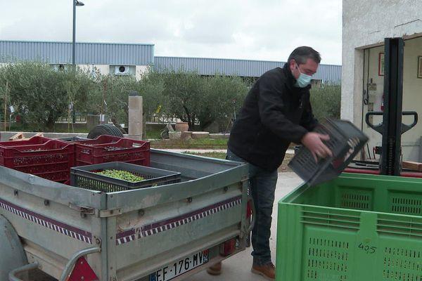 A condition d'apporter un volume suffisant, chaque producteur peut repartir avec l'huile extraite de ses olives.