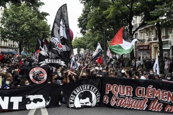 Une manifestation en mémoire du militant antifaciste Clément Méric, tué en 2013, à Paris, le 5 juin 2021.
