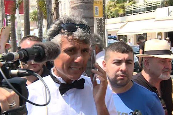 Le millionnaire algérien Rachid Nekkaz à Cannes en 2017.