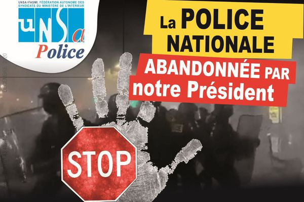 La réaction d'un syndicat de policier après l'interview d'Emmanuel Macron sur Brut vendredi 4 décembre 2020